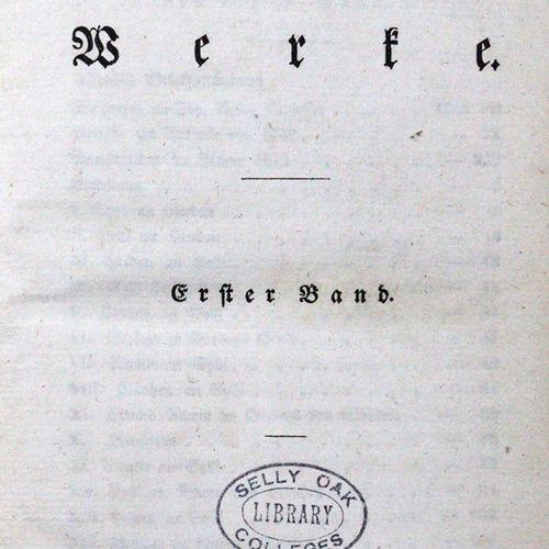 Jacobi,F.H. 作品。5(共6册),共6卷。Lpz., Fleischer 1812 25. Pbde. D.有丝带的Zt.(擦过,最好。)。 顺利。I…
