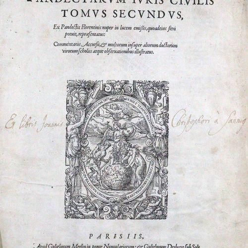 Justinianus. Digestum vetus seu Pandectarum Iuris Civilis. Vol. 2 3 (sur 3) en 2…