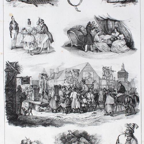Bilder ABC in Raethseln. 卡尔斯鲁厄,瓦格纳(约1835年)。4°.有25张石印版画 a. 1张石印版画叶。解释。窈窕淑女,君子好逑。(…