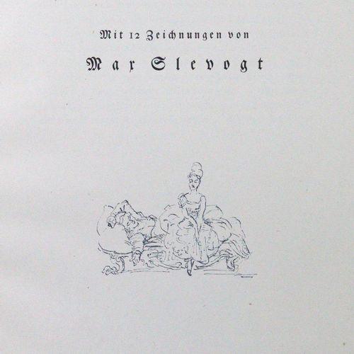 Slevogt,M. Le petit lion qui chante et qui saute. Bln, Cassirer 1923. 4°. Avec 1…
