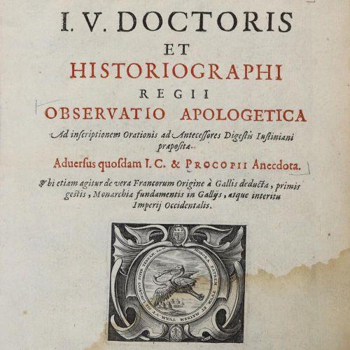 Trivorius,G. Observatio apologetica ad inscriptionem orationis ad antecessores d…
