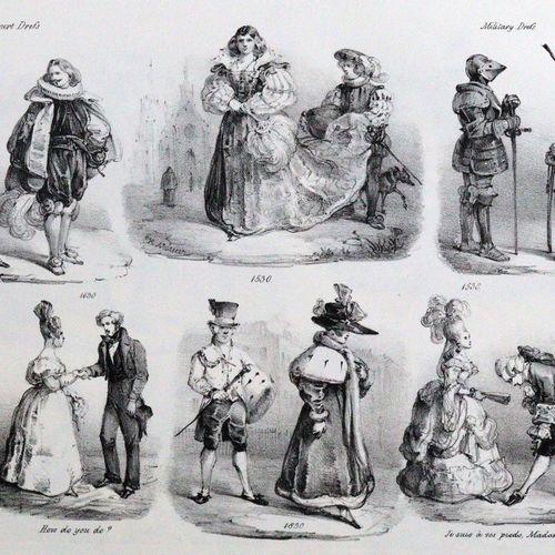 Mörner,H. Diverses esquisses de contrastes. Londres, Ackermann 1834. Fol. 6 plan…