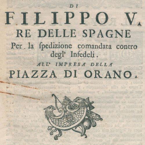 Decreto pubblicato 由Filippo V Re delle Spagne的天主教学院提供,并由该学院派人送来。 Florence, Paper…