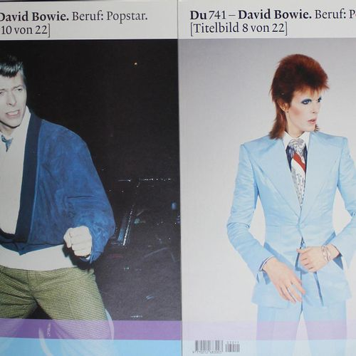 DU. 第741期(特刊):大卫 鲍伊,流行巨星。(封面1至22),共22期。苏黎世,Tamedia 2003。有许多,部分是彩色的。图文并茂的彩色地图。 由P…