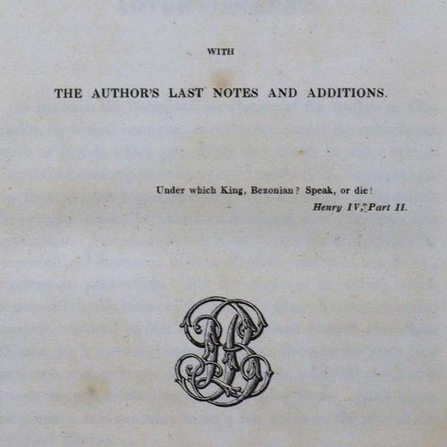 Scott,W. Oeuvres. Vol. 2 30, Paris, Furne et al. 1835. Avant et plaques. (Un peu…