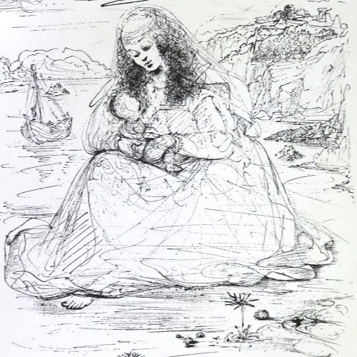 Baguette,A. 星历。(Poemes inedits)。巴黎1979年。巴尔塔扎尔的6张(第7张)原始彩色蚀刻画。OU.在布质组合和布质滑套中。 Vél…