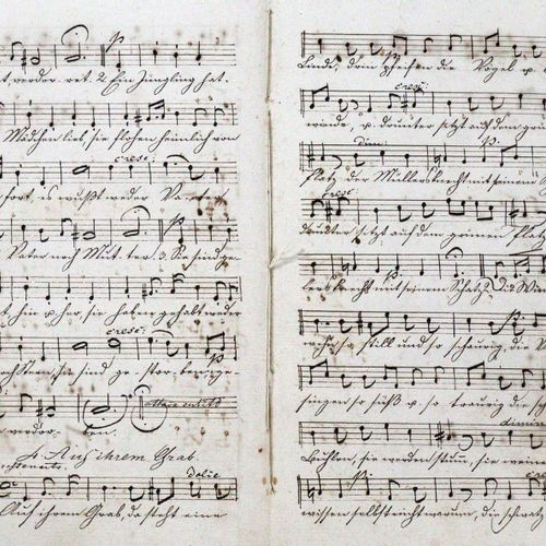 Papst,W. Chansons pour soprano, alto, ténor et basse, composées par Felix Mendel…