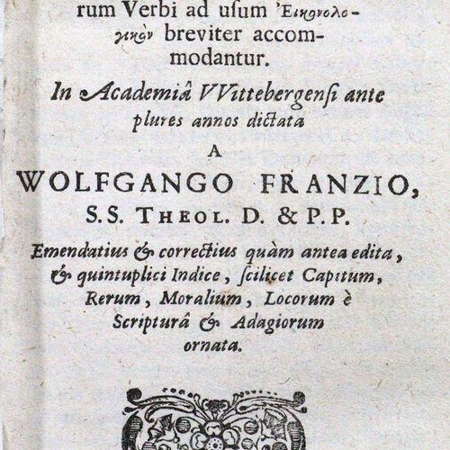 Franz,W. Historia animalium, in qua plerumque animalium praecipuae proprietates …