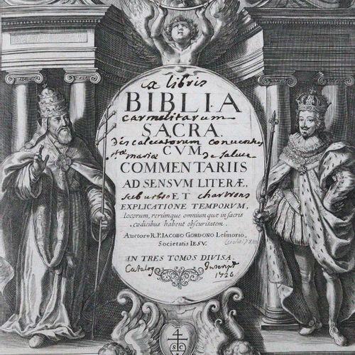 BIBLIA LATINA. Biblia sacra. Cum commentariis ad sensum literae.... 3 volumes. P…