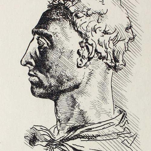 Alberti,L.B. 爱情和道德的故事。(维罗纳,Officina Bodoni) 1971年。附有1幅彼得 安尼戈尼根据阿尔贝蒂肖像的铜牌绘制的蚀刻画。7…