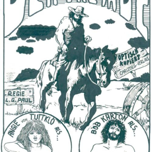 L.G.Paul (d.I. Lothar Gromotka). 陌生人》。一部色情漫画的原稿。水墨画,约1975 1981年,44卷。(包括标题)。42 x …