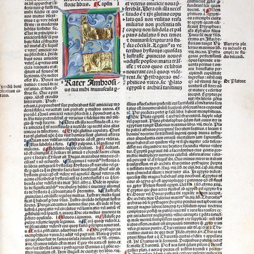 BIBLIA LATINA. (Biblia cum postillis Nicolai de Lyra et expositionibus G. Briton…