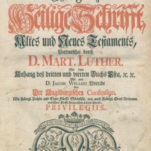Biblia germanica. 圣经》,即《旧约》和《新约》全书,由D.S.A.翻译。马特。路德...1卷中的3部分。Lüneburg, Stern 175…