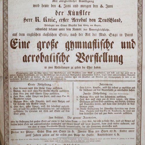 Karlsruhe. 在当局的允许下,艺术家R. Knie先生,德国第一位特技演员(......),以无与伦比的名字而闻名,今天将有幸在两个部分进行伟大的体操和…