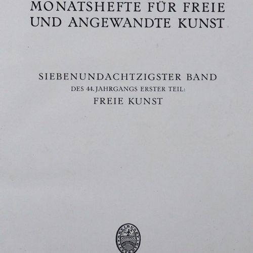 Kunst, Die. 自由和非传统艺术月刊》。该系列的12卷。Mchn., Bruckmann ca. 1910 ff. 4°.有许多彩色插图。书籍。 部分。…