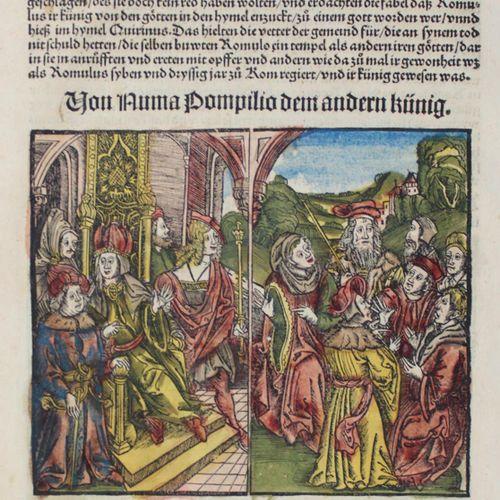 Livius. Feuille VI avec 3 col. Gravures sur bois tirées de Roemische Historie, p…