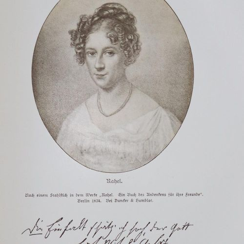 (Varnhagen von Ense,K.A.). 拉赫勒。为她的朋友们准备了一本纪念册。3卷。Bln., Duncker & Humblot 1834.与G…
