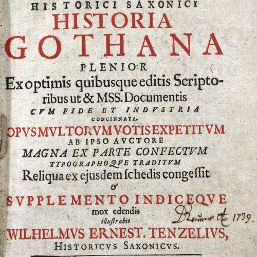 Sagittarius,C. Historia Gothana... Supplemento indiceque illustr. W.E. Tenzelius…