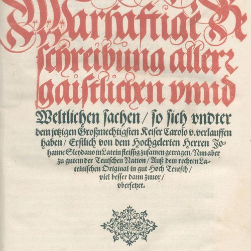 Sleidanus,J. (d.I. J.Philippi). 真实地描述了所有的精神和世俗事务,这些事务发生在...Carolo V.,最初是用拉丁文勤奋地编…