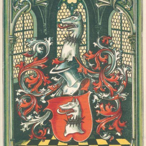 Archiv 用于家谱和纹章学。确定家族历史和家族纹章的月报,...Jgge.9 10 u. 12 16 in 7 vols.Papiermühle, Vogt…
