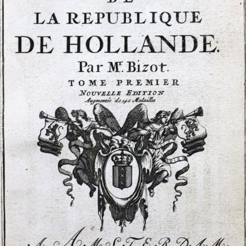Bizot,(P.). Histoire metallique de la République de Hollande. 2 en 1 vol. Amster…