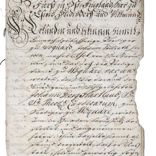 Jever. Transcription de documents et d'actes concernant la ville de Jever. Manus…