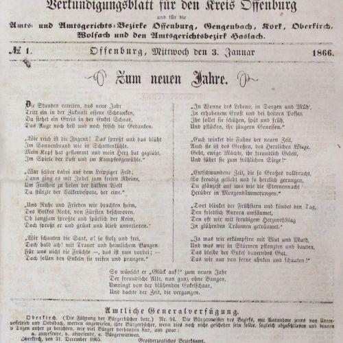 Ortenauer Bote, Der. Journal des annonces pour le district d'Offenburg et pour l…