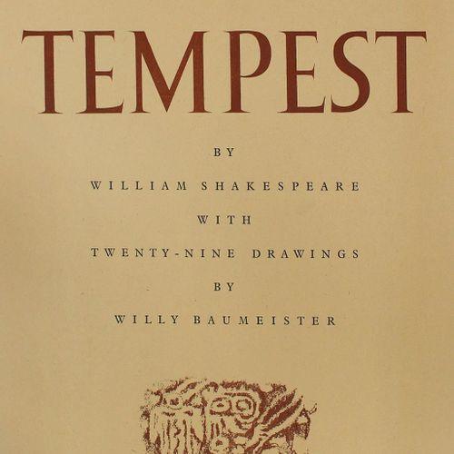 Shakespeare,W. 暴风雨》与维利 鲍梅斯特的29幅画作。Stgt. U. Calw, Hatje 1946/47. Fol.有29个月的时间。图画后…