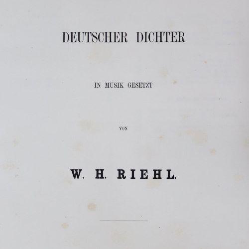 Riehl,W.H. Hausmusik. Cinquante chansons de poètes allemands mises en musique. S…