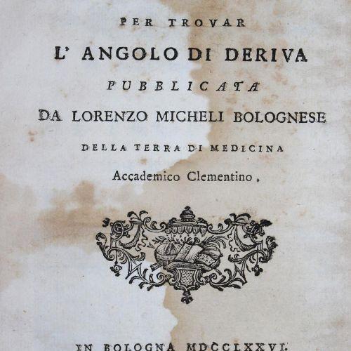 Micheli,L. Nuova Invenzione di una Macchina Marittima per trovar L'Angolo di Der…
