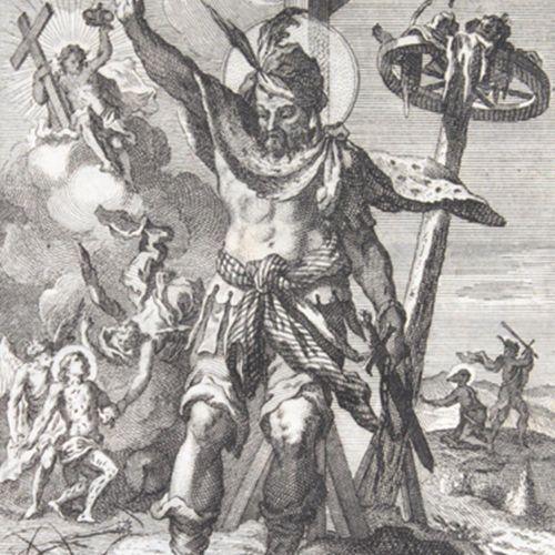 Schmid,J. 圣洁的葡萄出自邪恶的村庄,或各种杀人犯、强盗、巫师的奇怪转变,还有许多被判处死刑的恶人或罪犯....。连同牧师们的白衣,引领可怜的罪人走向美…