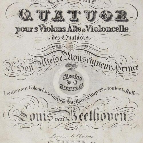 Beethoven,L.V. Troisieme Quatuor pour 2 Violons, Alte & Violoncelle des Quatuors…