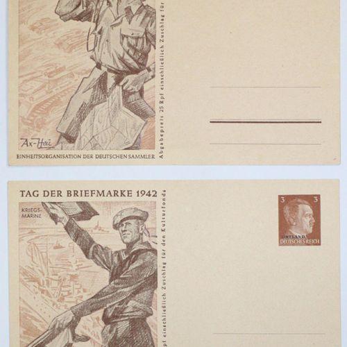 Postkarten, Reich allemand, tous inutilisés, en très bon état. 4 cartes postales…
