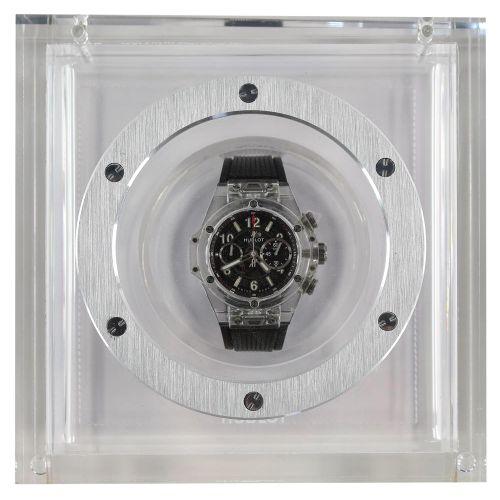 HUBLOT Unico Magic蓝宝石计时腕表。第484号(第500号)。透明的蓝宝石水晶表壳。编号1302010,自动机芯HUB1242,可快速调整日期。…