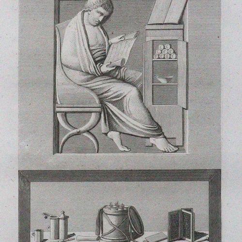 (Mazois,F.). Le Palais de Scaurus ou description d'une maison romaine,...第二版,巴黎,…