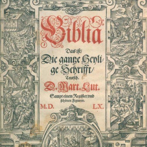 Biblia germanica. Biblia, c'est à dire : l'intégralité des Saintes Écritures en …