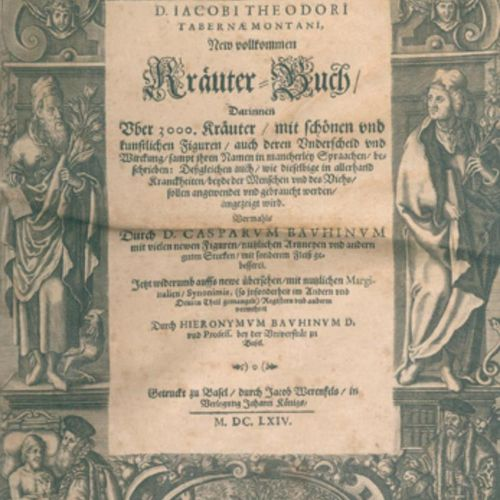 Tabernaemontanus,J.T. 新的完美草药书,其中有3000多种草药,有漂亮的人工数字....。由C.Bauhin改进,由H.Bauhin修订和扩…