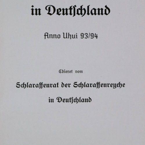 Stammrolle des moines laitiers en Allemagne. Edieret vom Schlaraffenrat der Schl…