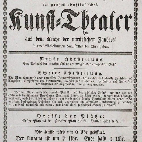 Mit allerhöchster Bewilligung 今天,1833年7月31日星期三,来自巴黎的机械师魏斯将有幸第二次展示来自自然魔法领域的伟大物理艺术…