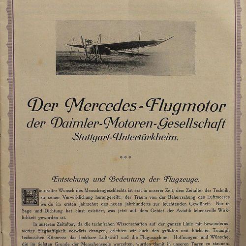 Mercedes. Neues vom Mercedes Flugmotor (Deckeltitel). Der Mercedes Flugmotor der…