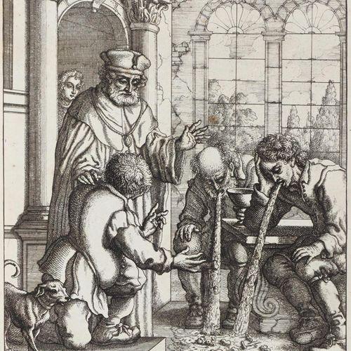 Dudley,T. 伊索的寓言》。在F. Barlow之后的27幅(共31或32幅)蚀刻画系列。在版画中签名,一幅蚀刻画DAT。1678年。每张约19.5 x …