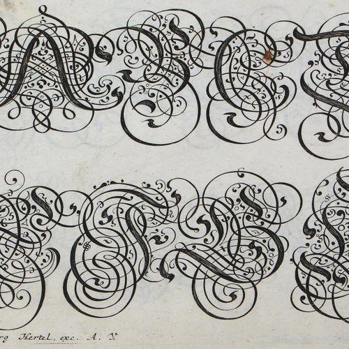 """Bodenehr, Gabriel (1664年 奥格斯堡1758年)。梵语字母表。""""Nützliche Anweisung zu unterschiedlic…"""