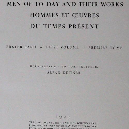 Keitner,A. Menschen und Menschenwerke.3 in 4 vols.维也纳 1924 26. 4°.有大量的肖像画。Ohldrb…