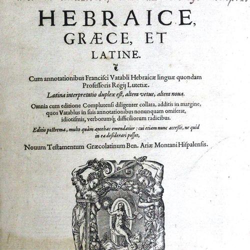 Biblia polyglotta. Sacra Biblia, Hebraice, Graece et Latine. Cum annotationibus …