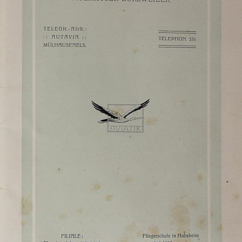 Automobil & Aviatik A. G. Aviatik Flugzeuge(目录)。Mulhouse Burzweiler, Charles Bah…