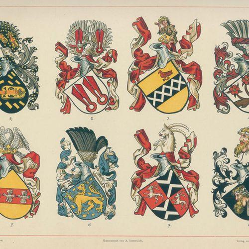 Ströhl,H.G. Atlas héraldique. Une collection de feuilles de spécimens héraldique…