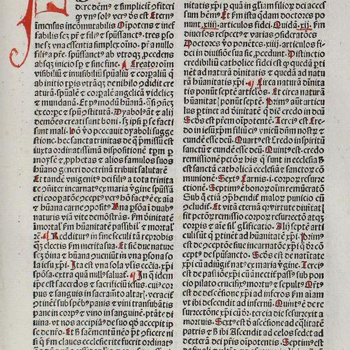 Summa rudium. Reutlingen, Johann Otmar 1487. 27,5 x 19,5 cm.71 (of 72, without t…