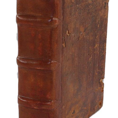 "Guillelmus Parisiensis. 诗经》中的 ""书信 ""和 ""福音"":""历时一年的循环""。1卷中的2部分。标题上有2幅大型木刻画,1个带木刻边框的…"