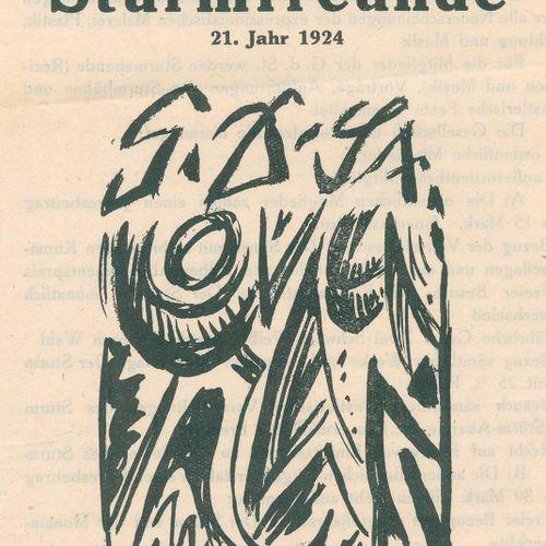 Sturm, Der. 收集了5种印刷品。约1921 24年,布莱恩╔╥。Der Sturm.╗ Monatsschrift。H. Walden编辑。第14卷,…