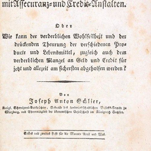Schlier,J.A. Ueber unterirdische Getraid Magazine verbunden mit Assecuranz und C…